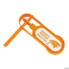 Personalized Giant Orange Graduation Noisemakers