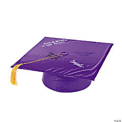 Inflatable Purple Autograph Graduation Cap