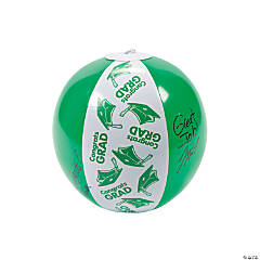 "Inflatable Green ""Congrats Grad"" Autograph Beach Balls"