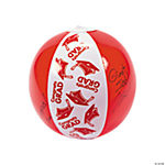 "Inflatable Red ""Congrats Grad"" Autograph Beach Balls"