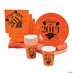 """Class Of 2013"" Orange Tableware"