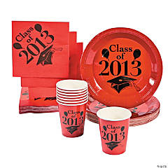 """Class Of 2013"" Red Tableware"