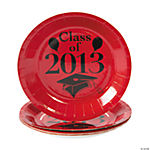 """Class Of 2013"" Red Dessert Plates"