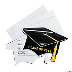 """Class Of 2013"" Mortarboard Graduation Invitations"