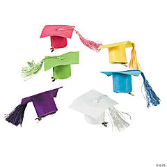 Neon Mortarboard Mini Hair Clip Hats