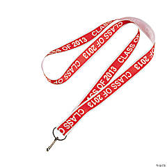 """Class Of 2013"" Red Lanyards"