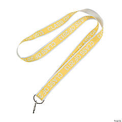 """Class Of 2013"" Yellow Lanyards"