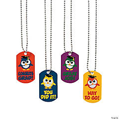 Elementary Graduation Dog Tag Necklaces