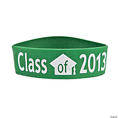 "Green ""Class Of 2013"" Graduation Big Band Bracelets"