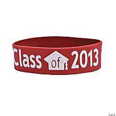 "Burgundy ""Class Of 2013"" Graduation Big Band Bracelets"