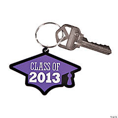 """Class Of 2013"" Purple Key Chains"
