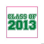 """Class Of 2013"" Green Tattoos"