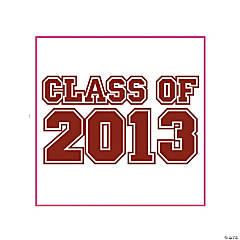 "Burgundy ""Class Of 2013"" Tattoos"