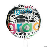 """Cheers To The Grad"" Mylar Balloons"