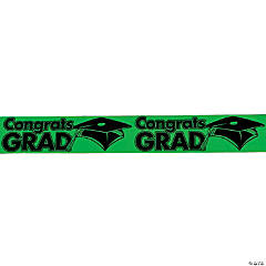 "Green ""Congrats Grad"" Streamers"