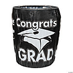 "Black ""Congrats Grad"" Trash Can Cover"