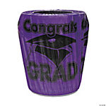 "Purple ""Congrats Grad"" Trash Can Cover"