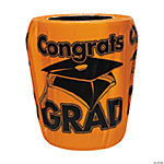 "Orange ""Congrats Grad"" Trash Can Cover"