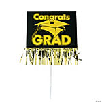 Graduation Party Yard Sign With Fringe