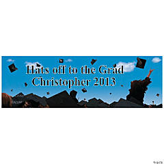 Personalized Celebration Graduation Banner - Large