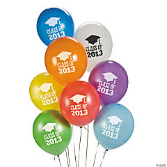"""Class Of 2013"" Latex Balloons"