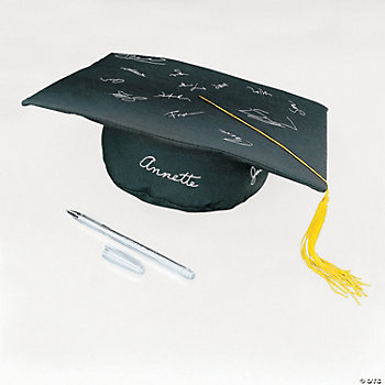 Autograph Graduation Cap-Shaped Pillow