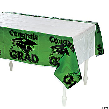 "Green ""Congrats Grad"" Table Cover"