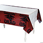 "Burgundy ""Congrats Grad"" Table Cover"