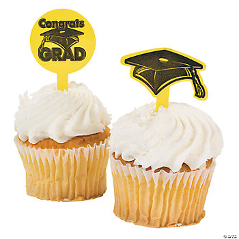 "Yellow ""Congrats Grad"" Food Picks"