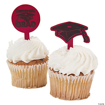 "Burgundy ""Congrats Grad"" Food Picks"