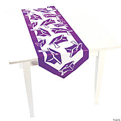 Purple Congrats Grad Table Runner