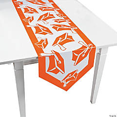 Orange Congrats Grad Table Runner