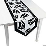 Black Congrats Grad Table Runner