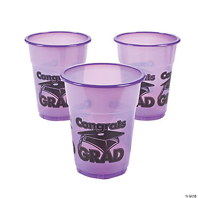 "Purple ""Congrats Grad"" Disposable Cups"