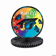 "Personalized ""Hats Off To the Grad"" Centerpiece"