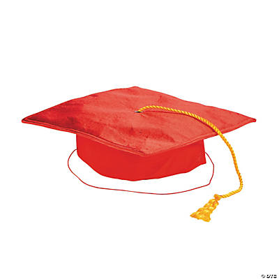 Child's Red Mortar Board Hat
