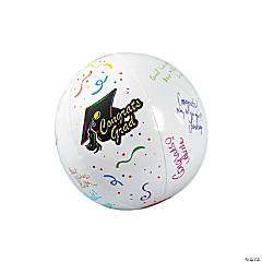 Inflatable Autograph Graduation Beach Balls