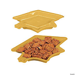 Graduation Cap Serving Dishes - Yellow