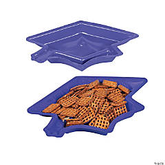 Graduation Cap Serving Dishes - Purple