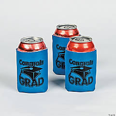 """Congrats Grad"" Blue Can Covers"