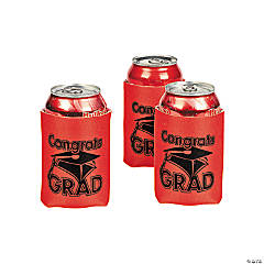 """Congrats Grad"" Red Can Covers"