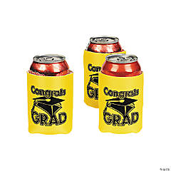 """Congrats Grad"" Yellow Can Covers"