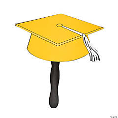 Yellow Graduation Cap Fans