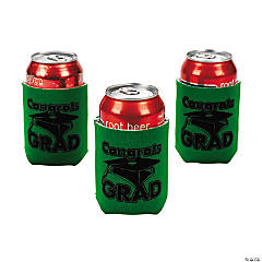 """Congrats Grad"" Green Can Covers"