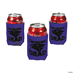 """Congrats Grad"" Purple Can Covers"