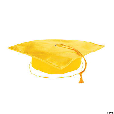 Child's Yellow Mortar Board Hat
