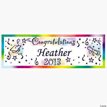"Personalized ""Congratulations"" Graduation Banner - Large"