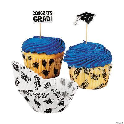 Graduation Cupcake Liners with Picks