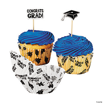Graduation Baking Cups With Picks