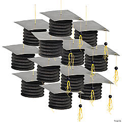 Black Graduation Cap Lanterns